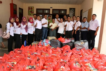 UTM Helped Flood Victims