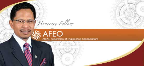 Congratulations to Prof. Zaini on being conferred as Honorary Fellow of AFEO.