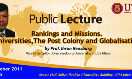 Public lecture by Prof. Ihron Rensburg, Vice-Chancellor Johannesburg University, South Africa