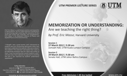 UTM Premier Lecture Series. Memorization or understanding: Are we teaching the right thing by Prof. Eric Mazur, Harvard University