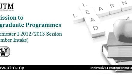 Admission to Postgraduate Programmes for Semester I 2012/2013 session (September Intake)
