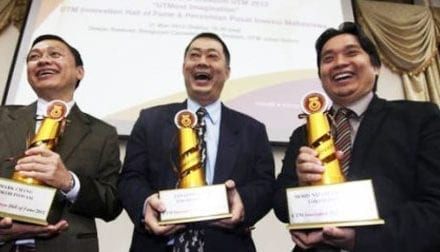 Three creative individuals were selected as recipients of innovation award UTM Hall of Fame 2012