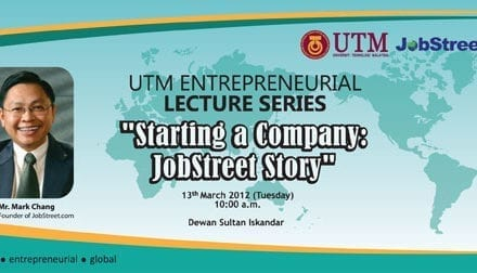 JobStreet CEO to share the story of JobStreet in UTM