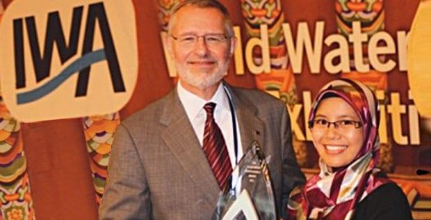 Malaysian First IWA Young Water Professional Award Winner