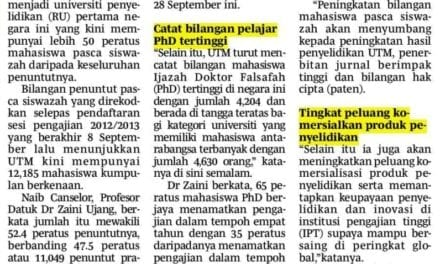 UTM kukuh universiti penyelidikan