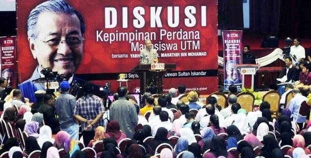 Diskusi Kepimpinan Perdana Mahasiswa bersama Tun Dr. Mahathir dapat sambutan hangat