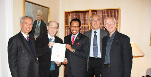 UTM Vice-Chancellor received Fellowship of the Royal Physiographic Society in Lund, Sweden
