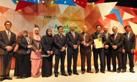UTM won Malaysian Construction Innovation Excellence Award, MCIEA, 2013