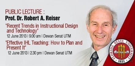 Public Lecture by Prof. Dr. Robert A. Reiser