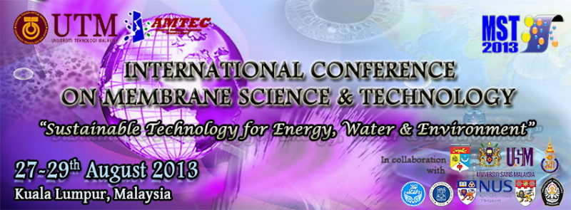 11th International Conference on Membrane Science & Technology (MST2013)