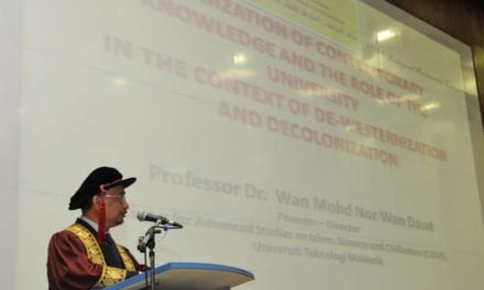 Inaugural Lecture of Prof. Dr. Wan Mohd Nor Wan Daud attracts overwhelming crowd