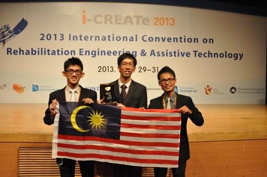 From left, Fu Su Kian, Patrick Chin Jun Hua and Khor Kang Xiang