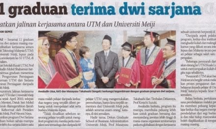 11 graduan terima dwi sarjana – Sinar Harian 27 Okt. 2013