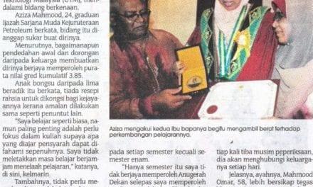 Dapat pendedahan sejak kecil – Sinar Harian 28 Okt. 2013