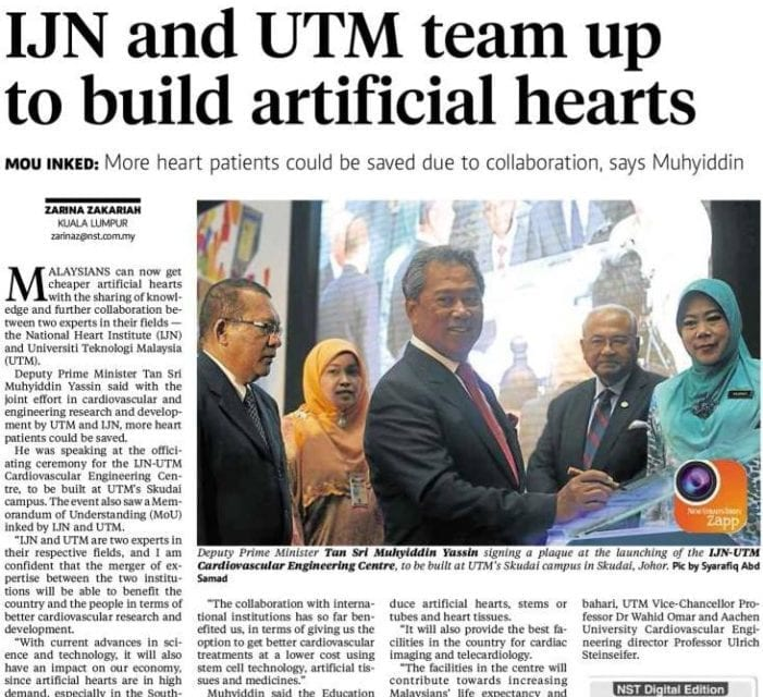 IJN and UTM team up to build artificial hearts