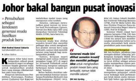 Johor bakal bangun pusat inovasi