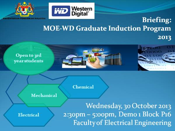 Briefing: MOE-WD Graduate Induction Program 2013