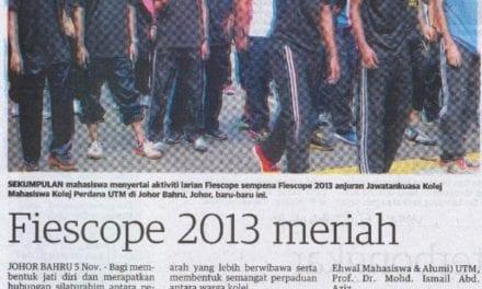 Fiescope 2013 meriah – Utusan (Johor) 6 Nov. 2013