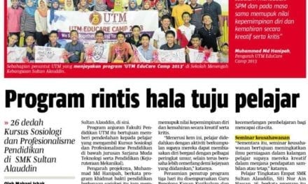 Program rintis hala tuju pelajar – BH (Johor) 12 Nov. 2013