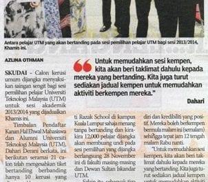 Saingan sengit – Sinar Harian (Johor Bahru) 26 Nov. 13