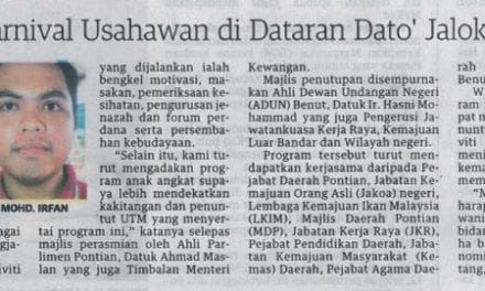 UTM anjur Karnival Usahawan di Dataran Dato' Jalok – Utusan Malaysia (Hello Kampus) 27 Nov. 13