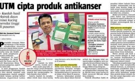 UTM cipta produk antikanser – Berita Harian 21 Nov. 13