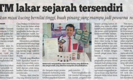 UTM lakar sejarah tersendiri – Sinar Harian (Berita Johor) 21 Nov. 13