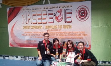 UTM-NACES Team Emerged As Champion At The  National Chemical Engineering Symposium 2013