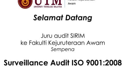 Surveillance Audit ISO 9001: 2008 at Faculty of Civil Engineering