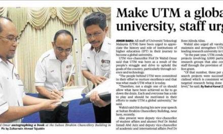 Make UTM a global university, staff urged