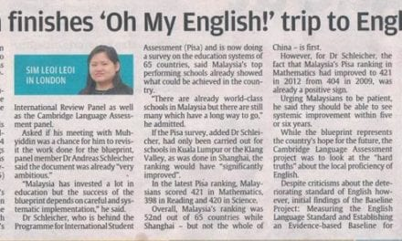Muhyiddin finishes 'Oh My English' trip to England