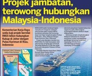 Projek jambatan, terowong hubungkan-Malaysi-Indonesia