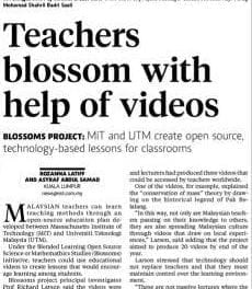 Teachers blossom with help of videos