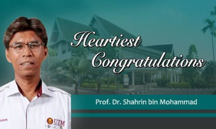 Heartiest Congratulations to Prof. Dr. Shahrin bin Mohammad