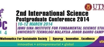 2nd International Science Postgraduate Conference