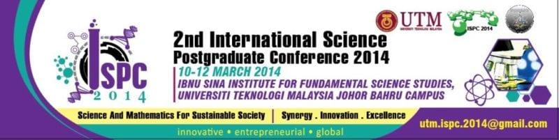 2nd International Science Postgraduate Conference