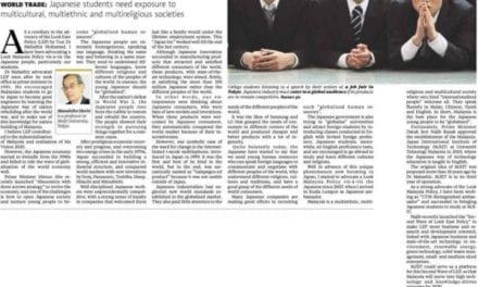 Japan looks to Malaysia to globalise – NST 6 Feb. 2014