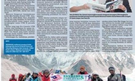 UTM bakal tawan puncak Everest
