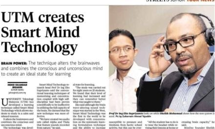 UTM creates Smart Mind Technology – NST (Johor Streets) 26 Feb. 2014