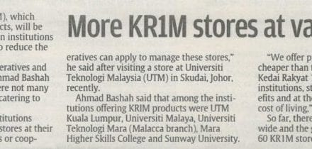 More KR1M stores at varsities – Sunday Star 2 March 2014