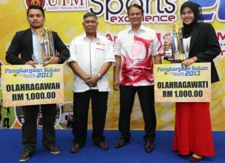 Rozaini Rozan dan Nor Shafiqin diumum Olahragawan dan Olahgarawati UTM 2013