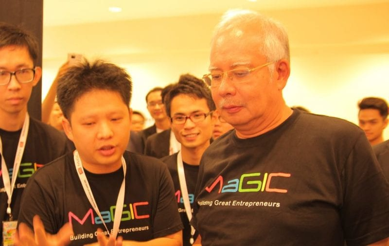 UTM projects shown to PM Najib in conjunction with the launching of MaGIC