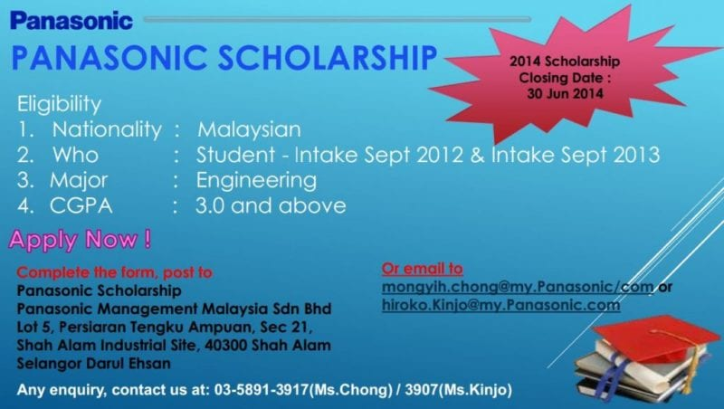 Panasonic Scholarship for Engineering Students