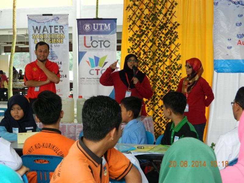 UTM Organized WASH-WaM to Raise Awareness of Water Hygiene among School Students