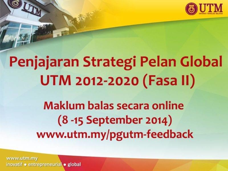 Penjajaran Strategi Pelan Global UTM 2012-2020 (Fasa II)