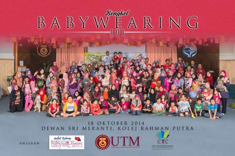 100 Parents across Johor attended UTM organised Babywearing 101 Workshops