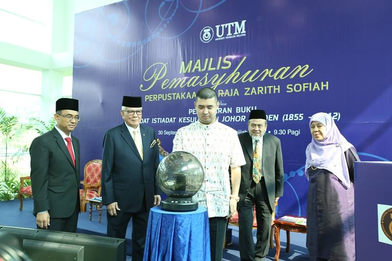 Tunku Temenggong of Johor launched the Perpustakaan Raja Zarith Sofiah