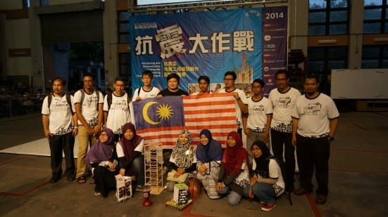 UTM team after competing in IDEERS 2014 held at National Centre for Research on Earthquake Engineering (NCREE) at Taipei, Taiwan