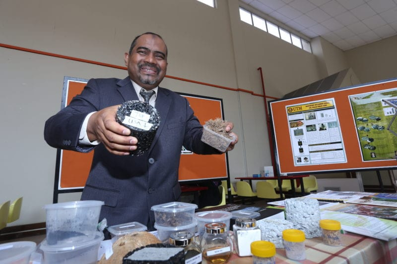 UTM Researcher Uses Recycled Materials to Build Roads