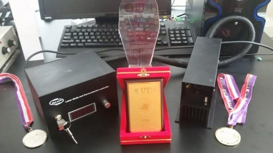 MyLaser system with awards won through several international and local competitions